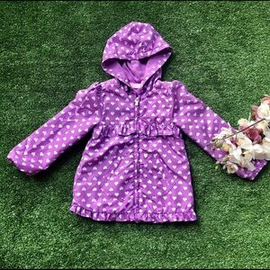 Other - Adorable 3/4T Purple Polka-Dotted Rain Jacket 🧥